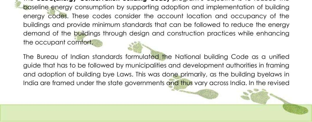 The Bureau of Indian standards formulated the National building Code as a unified guide that