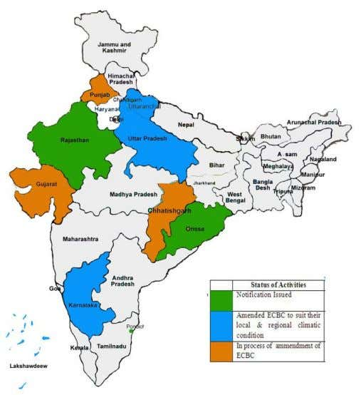  Industries The rating system and BEE 's role: The state-wise status of activities for the