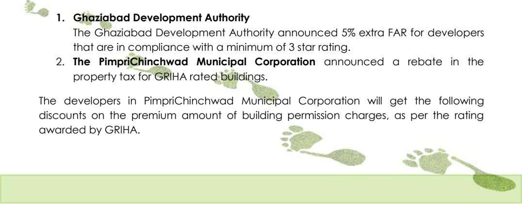1. Ghaziabad Development Authority The Ghaziabad Development Authority announced 5% extra FAR for developers that