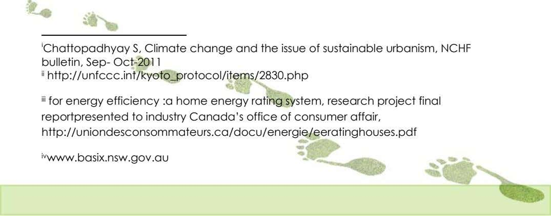 i Chattopadhyay S, Climate change and the issue of sustainable urbanism, NCHF bulletin, Sep- Oct-2011
