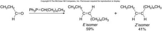 is that a mixture of stereoisomers sometimes forms. • The Wittig reaction has been used to
