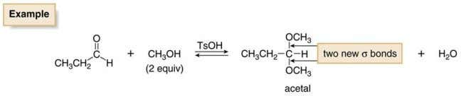 • When a diol such as ethylene glycol is used in place of two equivalents