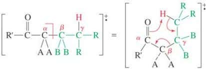 Equivalent to α , β cleavage + transfer of one mass unit for the hydrogen. Loss