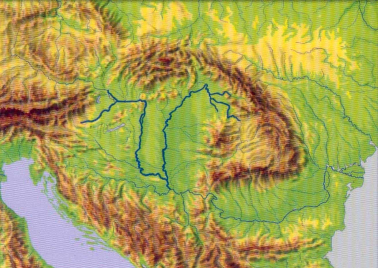 Topography of Carpathian-Basin