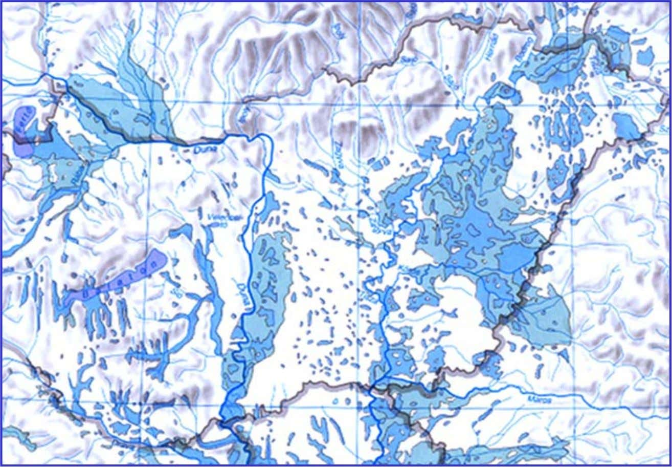 Inundation map in the middle ages