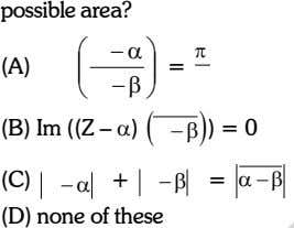 possible area? (A)   Z     Arg =   