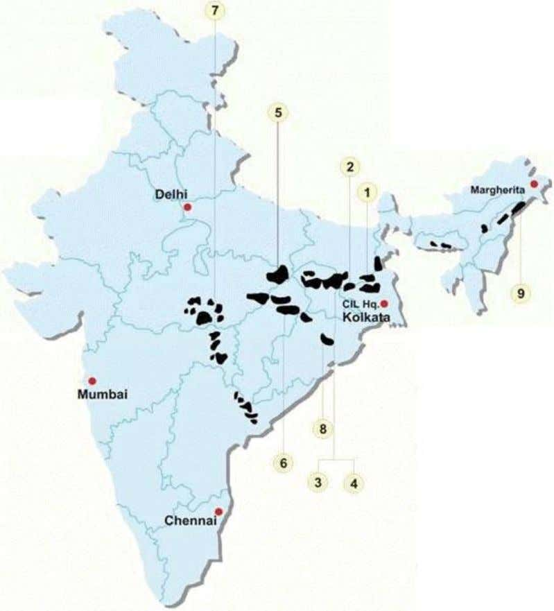 LOCATION OF COAL INDIA STATIONS ALL OVER INDIA