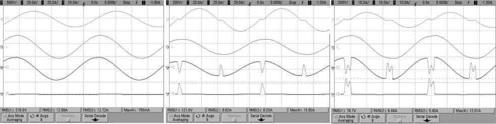 TRANSACTIONS ON POWER ELECTRONICS, VOL. 25, NO. 5, MAY 2010 Fig. 15. Measured waveforms for (a)