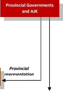 Provincial Governments and AJK Provincial representation