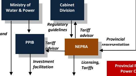 Ministry of Water & Power Cabinet Division Regulatory guidelines Tariff and advisor PPIB Tariff NEPRA