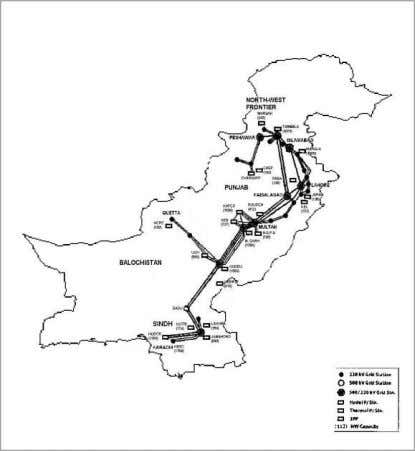 line in Pakistan. This national grid connects hydel stations located in the North and thermal units