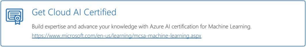 Get Cloud AI Certified Build expertise and advance your knowledge with Azure AI certification for