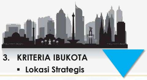 3. KRITERIA IBUKOTA  Lokasi Strategis