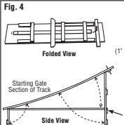 Fig. 4 Folded View Starting Gate Section of Track Side View
