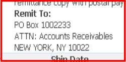 AR Invoice billed to SSC France from SSC US (NY)