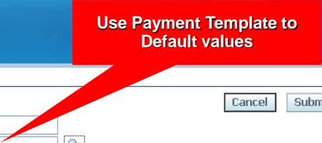 Use Payment Template to Default values