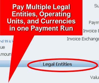 Pay Multiple Legal Entities, Operating Units, and Currencies in one Payment Run