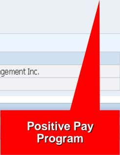 Positive Pay Program