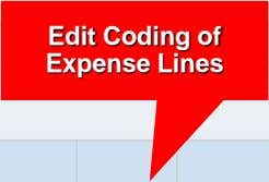 Edit Coding of Expense Lines