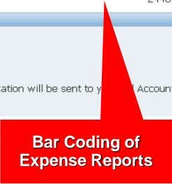 Bar Coding of Expense Reports