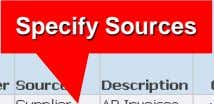 Specify Sources