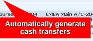 Automatically generate cash transfers