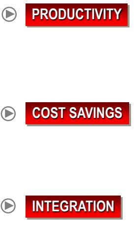PRODUCTIVITY COST SAVINGS INTEGRATION