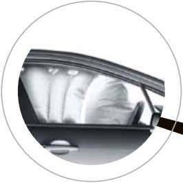 Airbags In the event of an accident, there are up to eight airbags to help