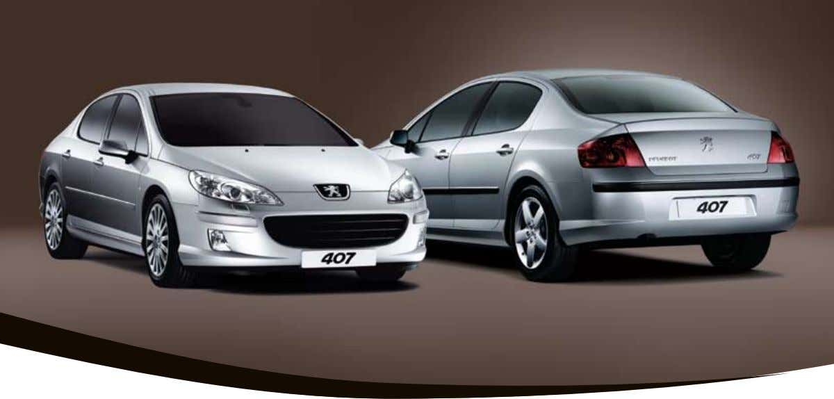 407 The Peugeot 407 sedan has single-handedly redefined the concept of prestige motoring. Its muscular,