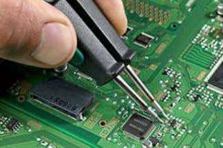Electronic components (PCBs) A tube of multicore electronics solder used for manual soldering An improperly soldered