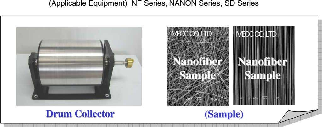 (Applicable Equipment) NF Series, NANON Series, SD Series MECC CO.,LTD. MECC CO.,LTD. NanofiberNanofiber