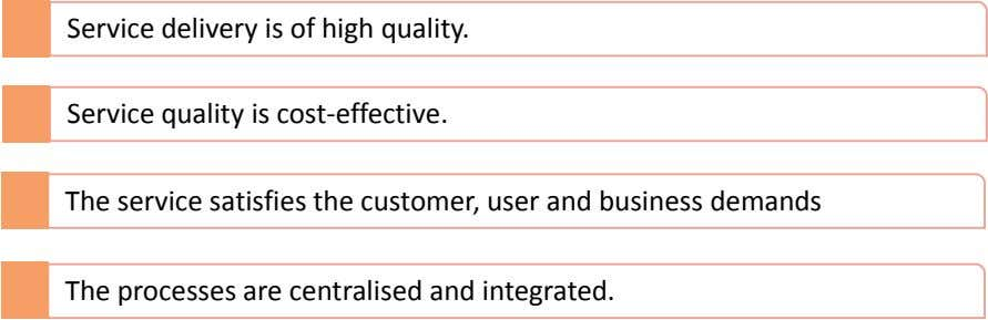 Service delivery is of high quality. Service quality is cost-effective. The service satisfies the customer, user