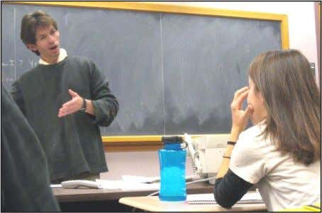 "Picture of the Week Bruce Bugbee/ Oredigger ""Is this clear?"" Emily Milian listens attentively as Dr."