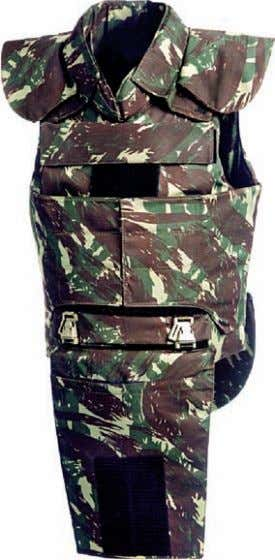 side, pelvic, shoulder, neck and gluteal protection. Ideal and exclusively for military forces and special police
