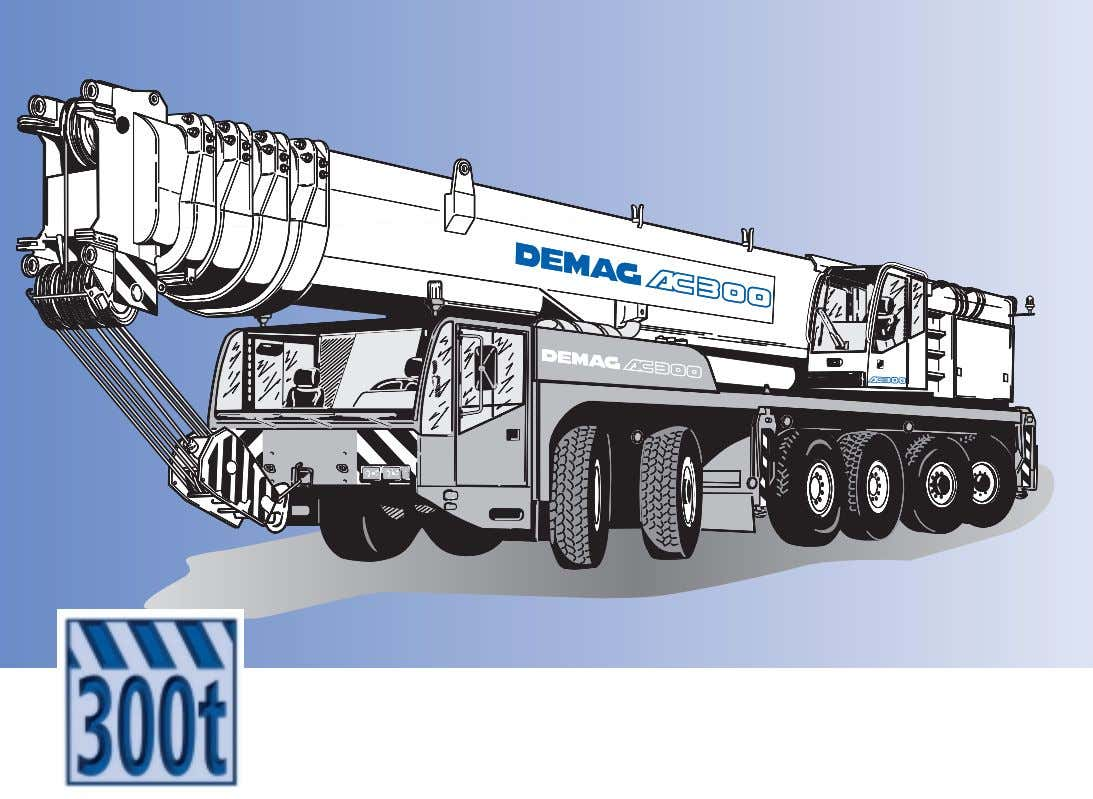 Demag AC 300 MAIN MENUE Inhalt Contents Contenu