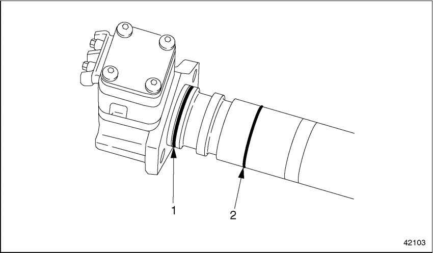 the Unit Pump O-ring installer (J-45373). See Figure 2-11. 1. Inner (larger) O-ring Figure 2-11 O-ring