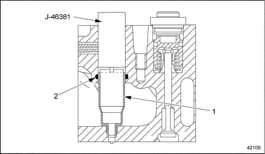 from the cylinder head by performing the following steps: 1. Protective Sleeve Figure 2-21 2. O-ring