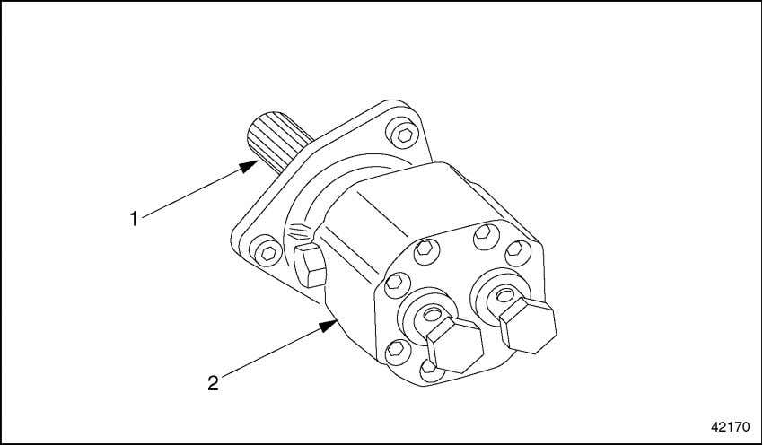 the fuel pump on the cylinder block. See Figure 2-35. 1. Splined Shaft Figure 2-35 Fuel