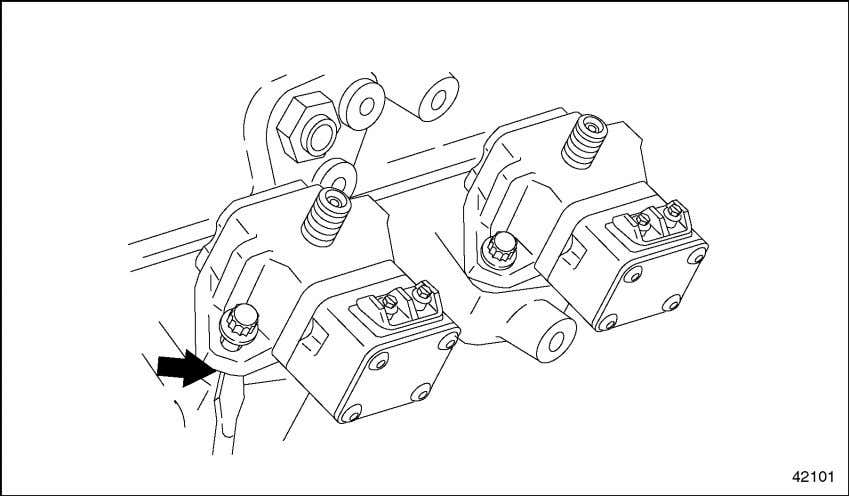 where the mounting bolt attaches. See arrow in Figure 2-5. Figure 2-5 Releasing a Locked-up Pump