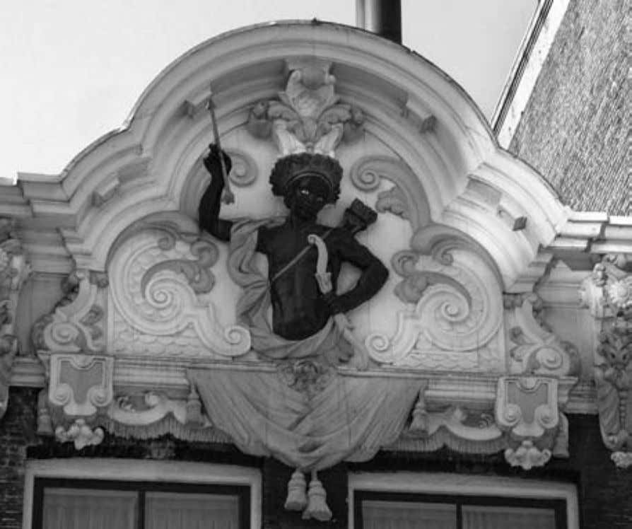 4.4. Personification of Africa at the top of the gable of Rokin 64 , Amsterdam