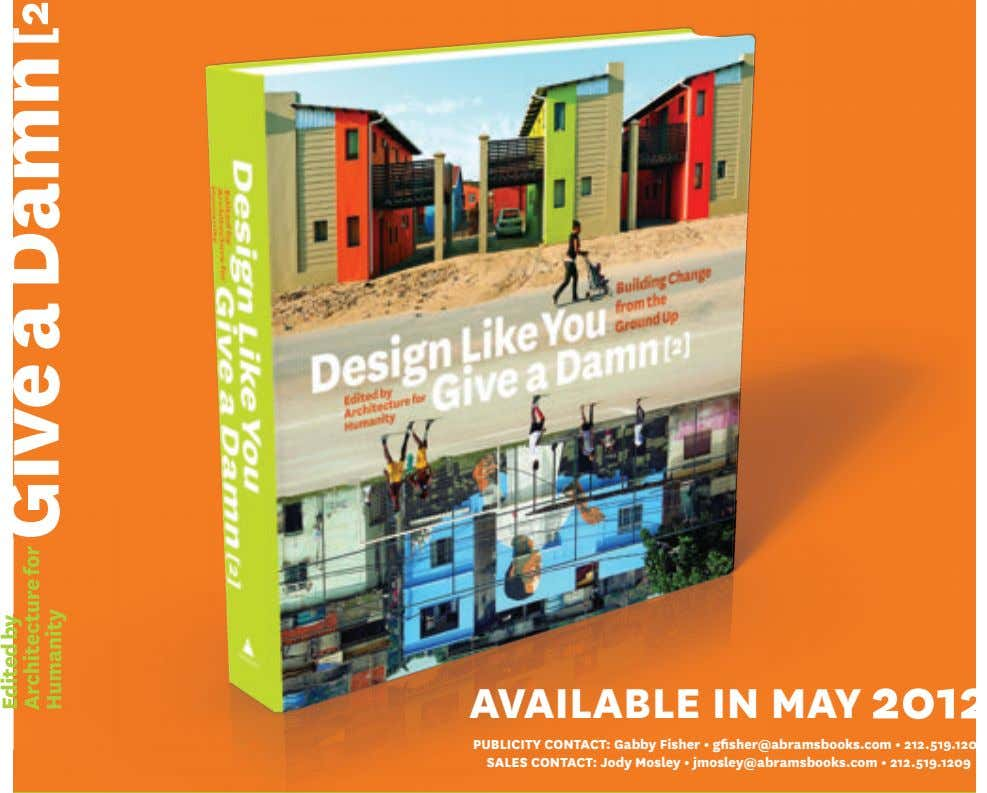 AVAILABLE IN MAY 2012 Edited by y Architecture Architecture for Humanity Humanity