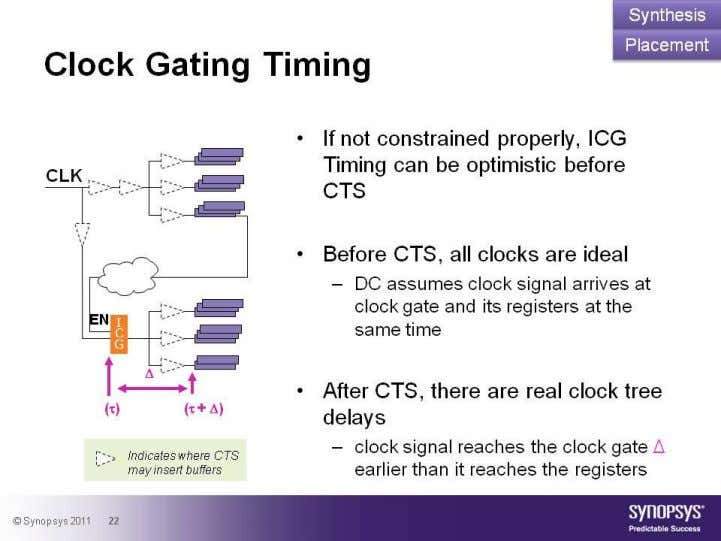 clock trees • No hold-timing fixing • Be careful with critical range • Do not over-constrain