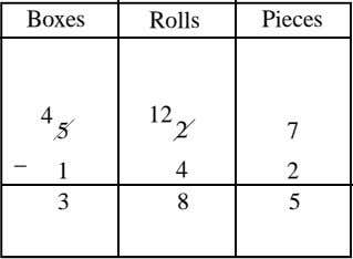 Boxes Rolls Pieces 4 12 5 2 7 _ 1 4 2 3 8 5
