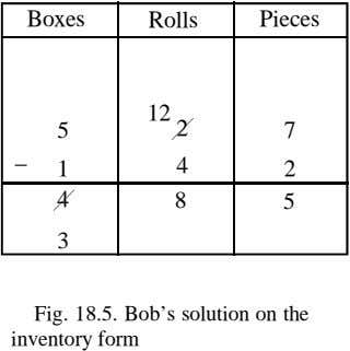 Boxes Rolls Pieces 12 5 2 7 _ 1 4 2 4 8 5 3