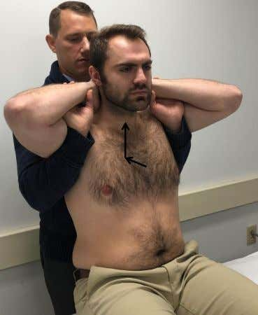 Thoracic Thrust Techniques • Patient seated all the way back on plinth • Therapist behind patient