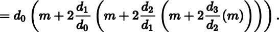 an issue, despite this implication in the factored equation: The denominators all equal one (or the