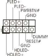 System Panel Header (9-pin PANEL1) (see p.14, No. 17) This header accommodates several system front panel