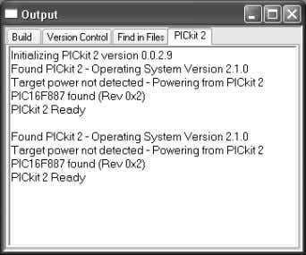 FIGURE 4-6: PICkit™ 2 MICROCONTROLLER PROGRAMMER CONNECT 4.2.3 Updating PICkit™ 2 Firmware (Operating System)