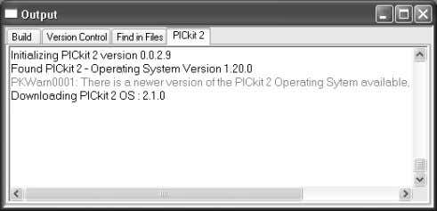 4-7). FIGURE 4-7: UPDATING PICkit™ 2 FIRMWARE DIALOG 4.2.4 Running the Project Wizard For this project,