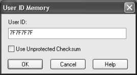 4-28: CONFIG URE – ID MEMORY FIGURE 4-29: USER ID MEMORY 4. Set up the parameters